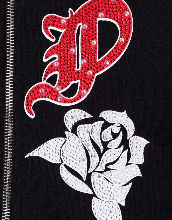 """Hoodie Sweatjacket """"Rose girl P"""""""