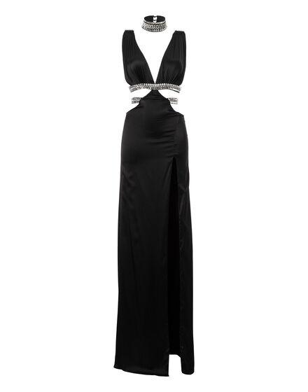 Long Dress Black Stone