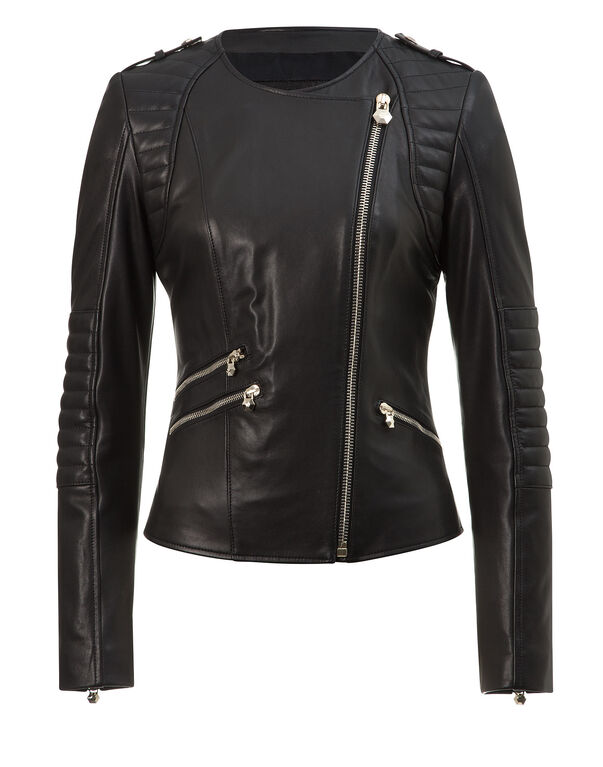 "leather jacket ""bat girl"""