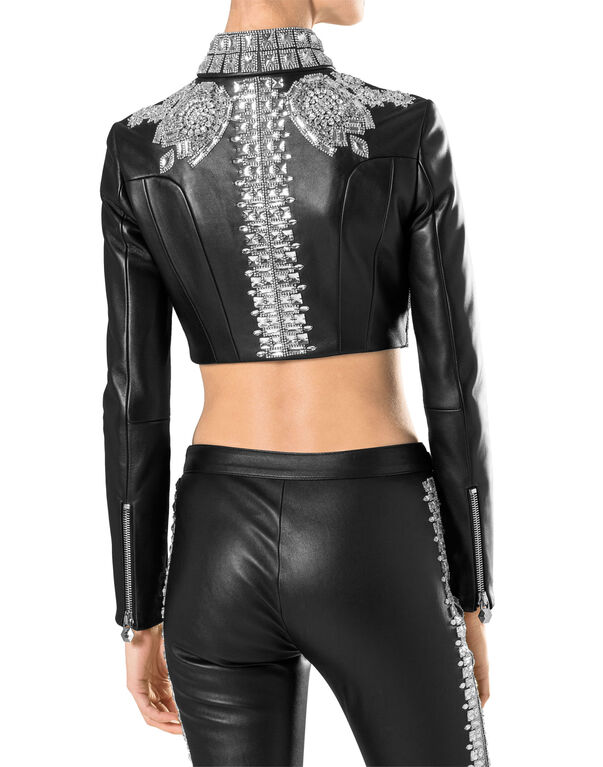 "leather jaket ""bawl"""