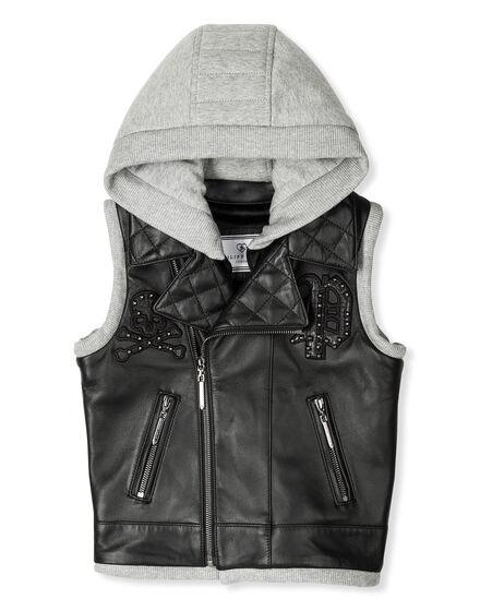 Leather Vest Long Rudi