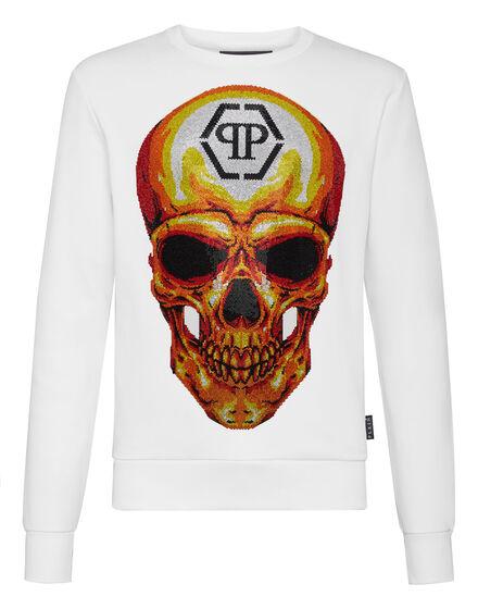Sweatshirt LS Skull crystal
