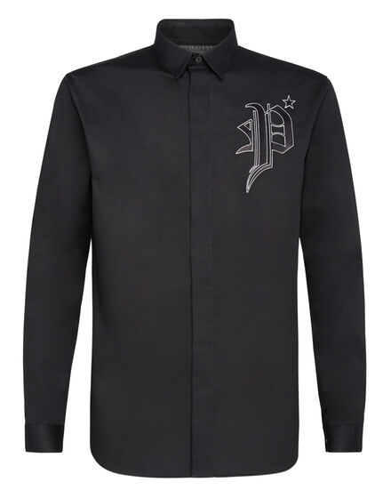 Shirt Diamond Cut LS Gothic Plein