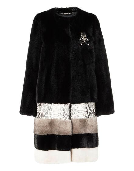 Fur Coat Short Amarant One