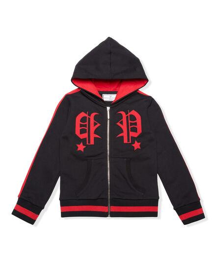 Hoodie Sweatjacket Around The World
