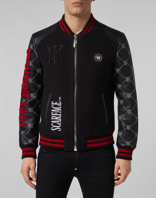 Leather Bomber Scarface