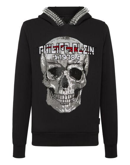 Hoodie sweatshirt Skull crystal