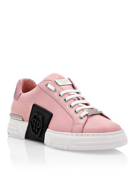 Leather PHANTOM KICK$ Lo-Top Sneakers Crystal