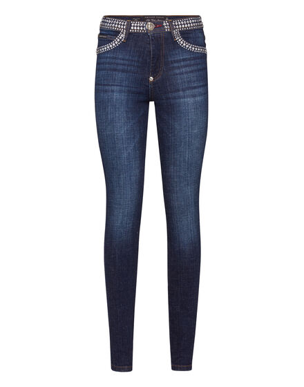 High Waist Jegging Ripped Wash