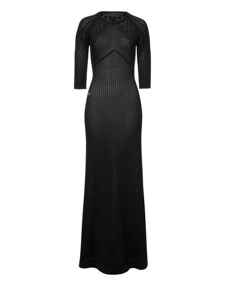 Long knit dress Satureja
