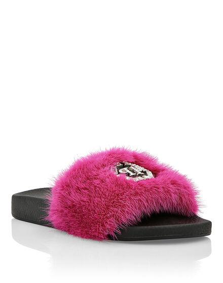 Sandals Flat Pink Paradise