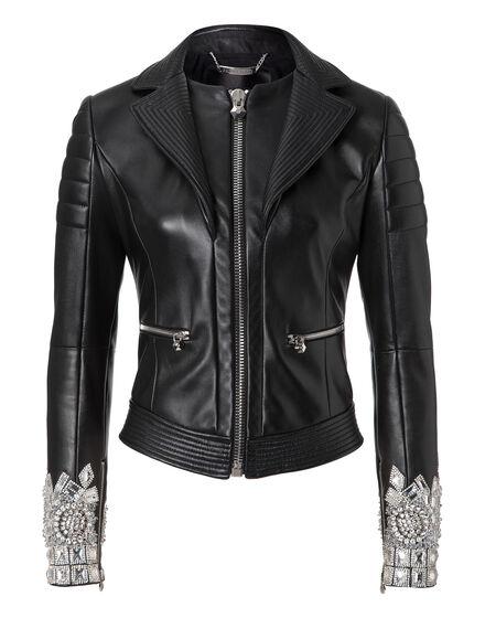 leather jacket together