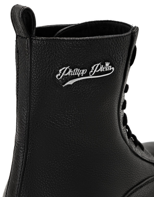 Leather Boots Low Flat