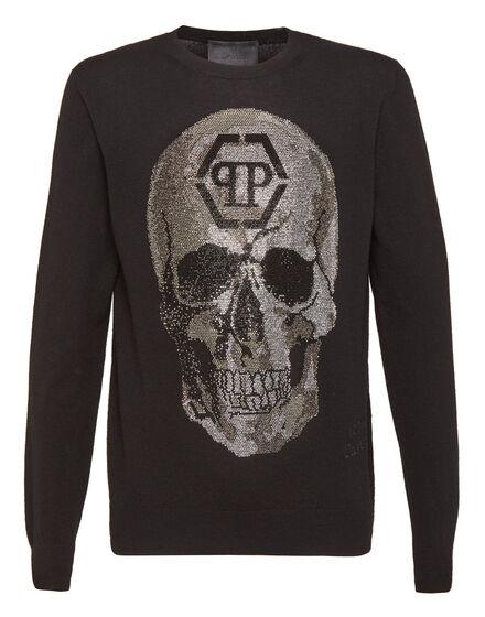 Pullover Round Neck LS Classic skull