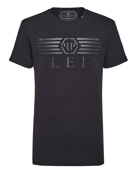 T-shirt Platinum Cut Round Neck Alone
