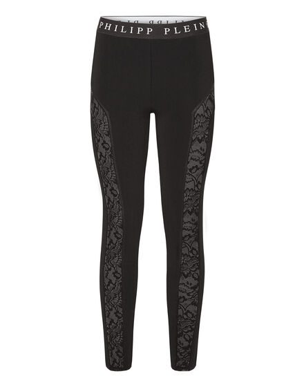 Leggings Lace contrast