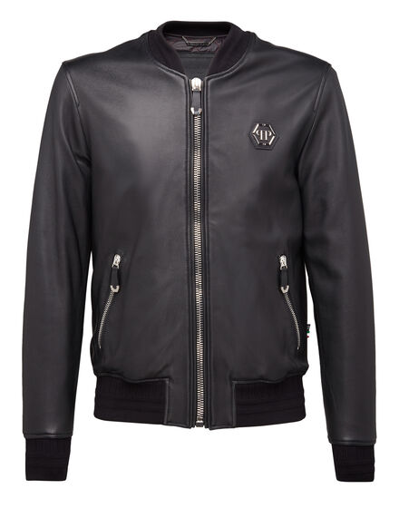 Leather Bomber Zacharie