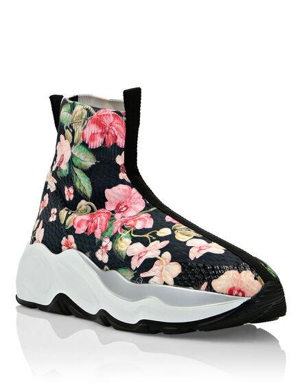 Hi-Top Sneakers Flowers