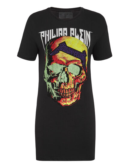 T-Shirt Short Dresses Skull strass