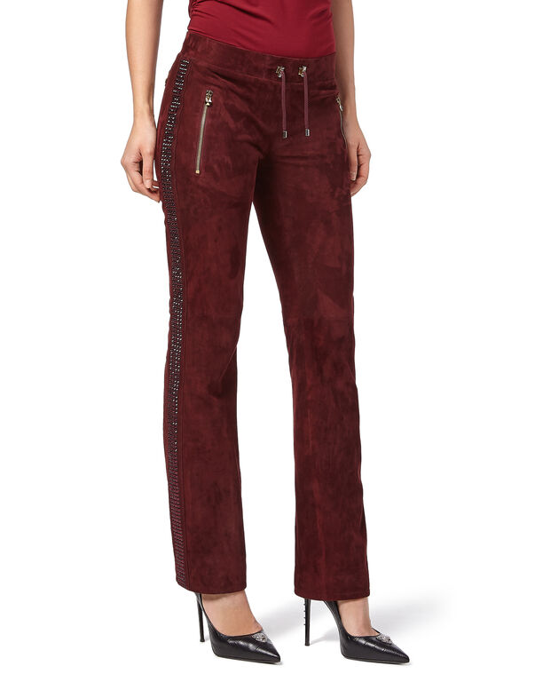"""Leather Jogging Trousers """"Too Good"""""""