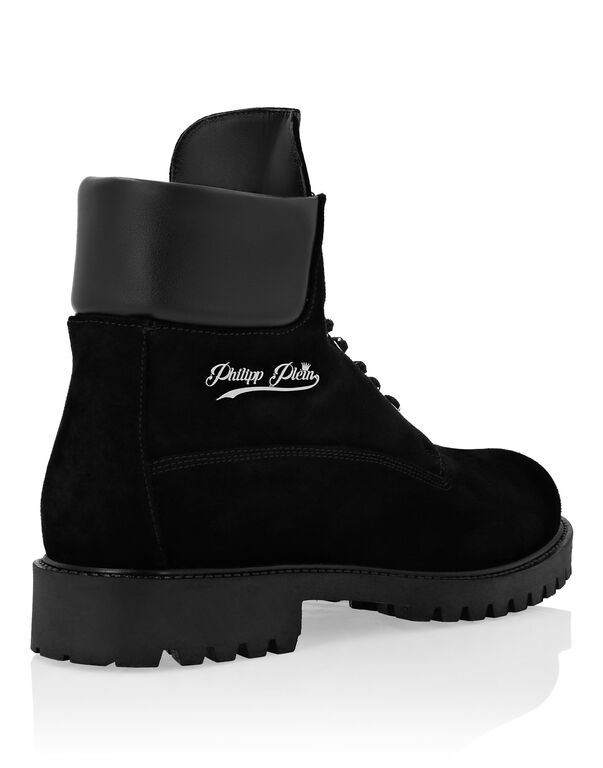Calf Leather Boots Low Flat