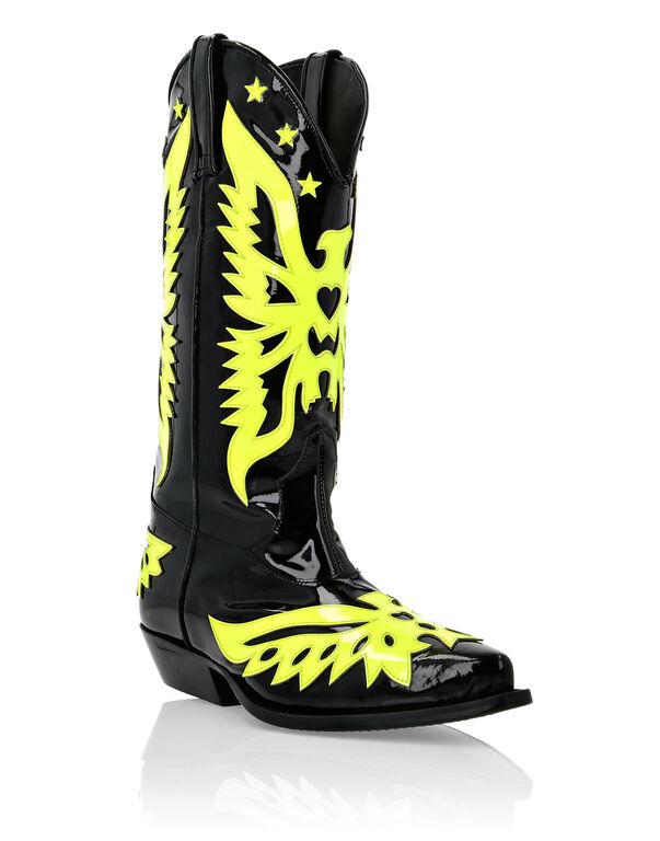 Boots Mid Flat Cowboy