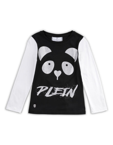 t-shirt short sleeves panda
