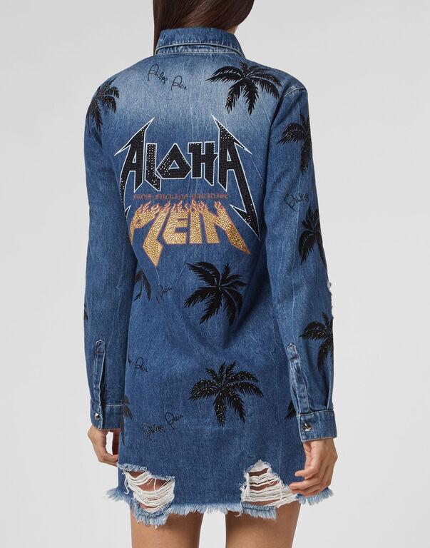 Denim Shirt Ls Aloha Plein