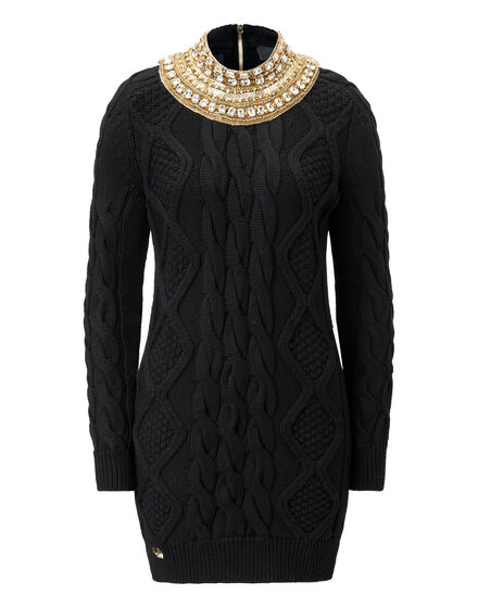 knit dress black sun