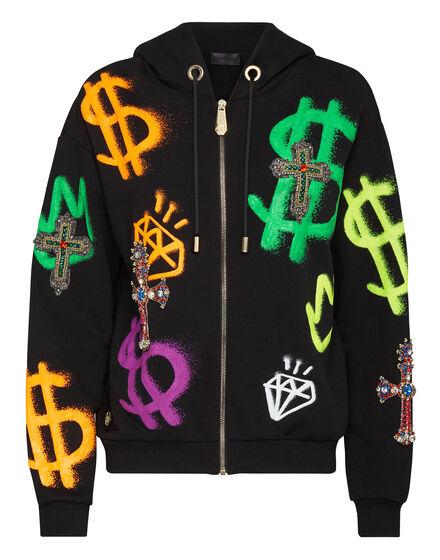 Hoodie Sweatjacket Baroque cross