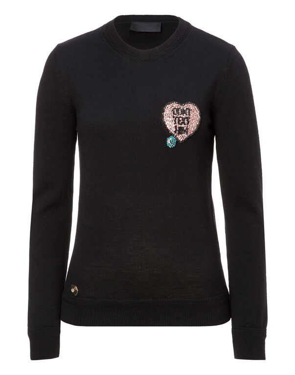 "Pullover Round Neck LS ""Love Text"""