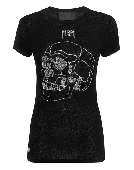 T-shirt Round Neck SS Look at me Skull