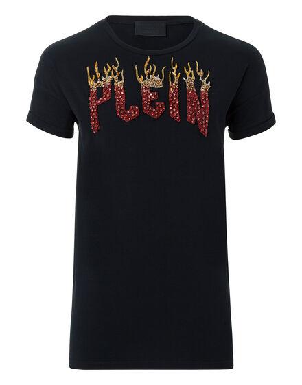 T-shirt Round Neck SS Plein flames show