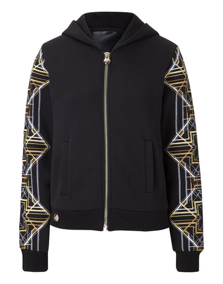 hooded sweatjacket pelican