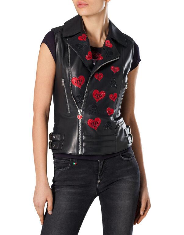 "Leather Vest Short ""Dell City"""