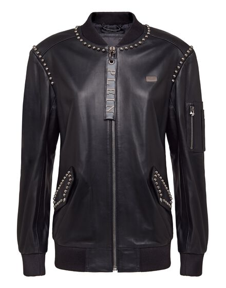 Leather Bomber Betty Garner