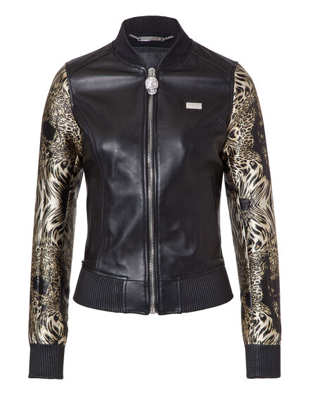 Leather Bomber Mich