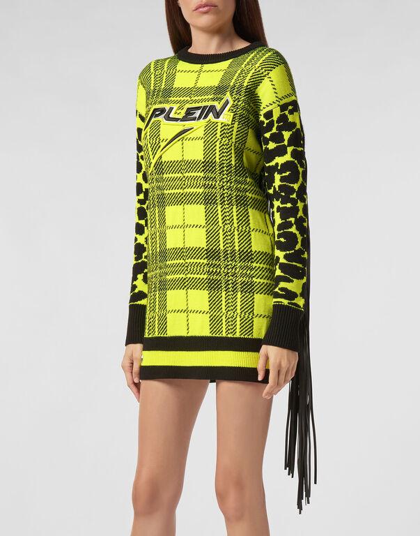 Knit Dress Tartan