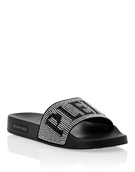 Flat gummy sandals Crystal Plein