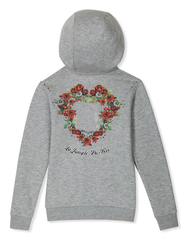 "Hoodie Sweatjacket ""Flower Alem"""
