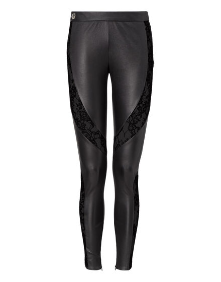 leather pants criss-cross