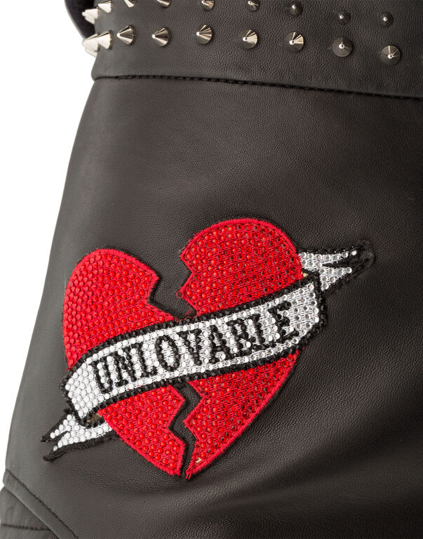 "Leather Shorts ""Roses Plein"""