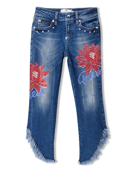 Denim Trousers Fringe