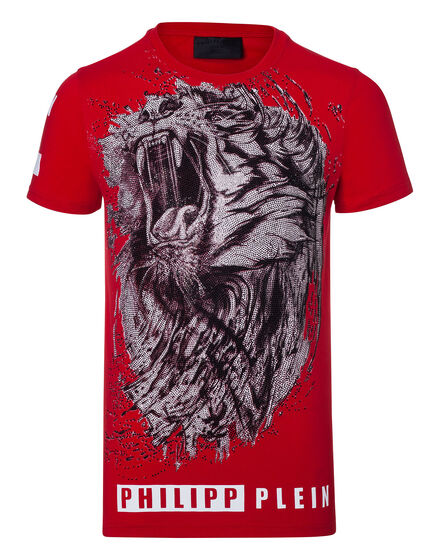 T-shirt Round Neck SS Black lion