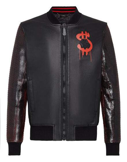 Leather Bomber Money soup VIP