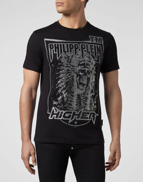 T-shirt Platinum Cut Round Neck Cowboy