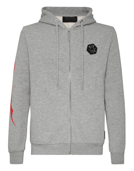 Hoodie Sweatjacket Allover skull