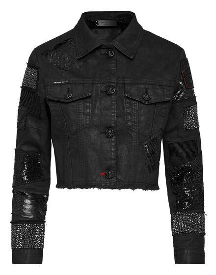 Denim Jacket Mix and match Crystal