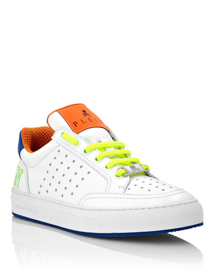 Multicolor Leather Lo-Top Sneakers Fluo