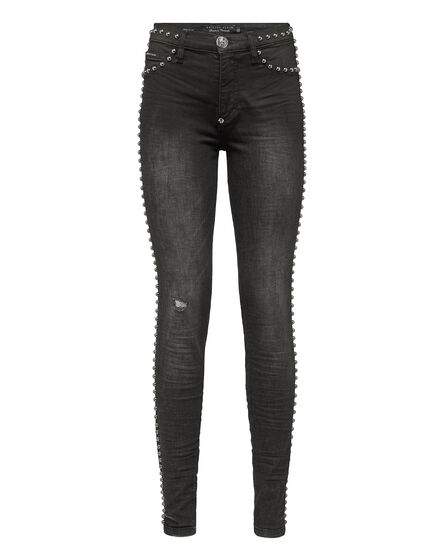 High Waist Jegging Spotted and studs